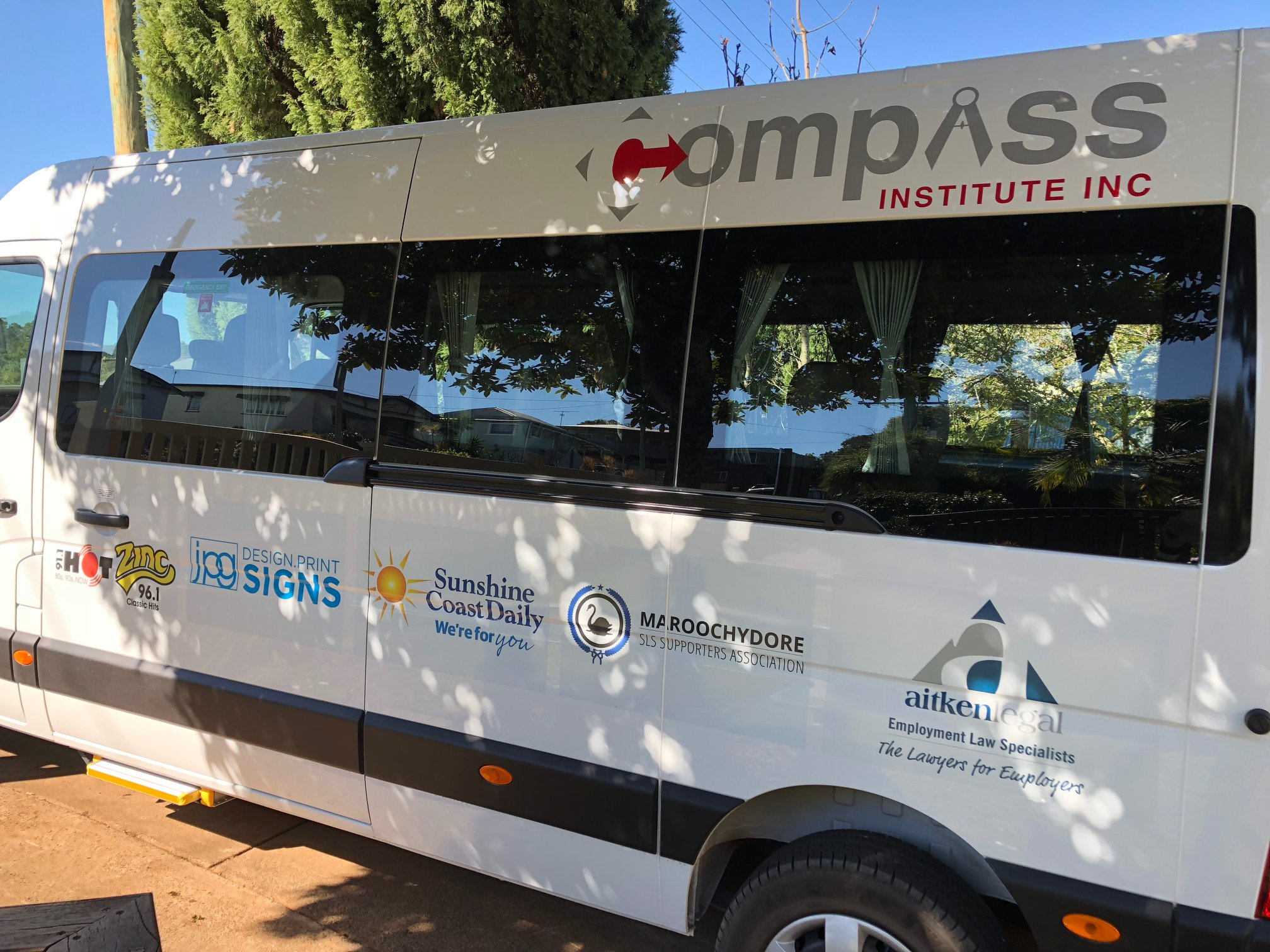 Helping the Compass Institute purchase a new bus by sponsoring a seat on the bus to transport for young people with intellectual and physical disabilities